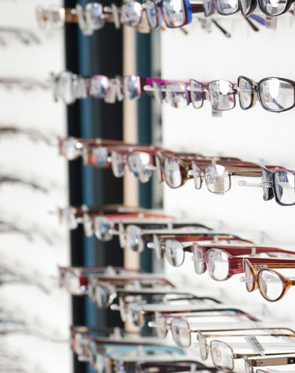 Glasses Selection at Charlottetown Vision Clinic